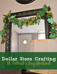 dollar store crafting st patrick u0027s day garland