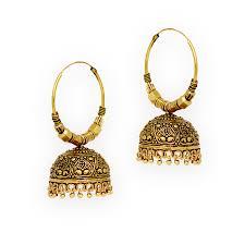 bengali earrings buy jaipur oxidised black metal gold plated bali jumki style
