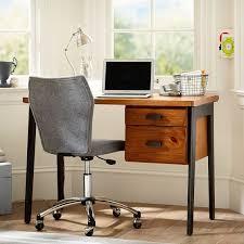 Small Desk Brown Colton Small Desk Pbteen
