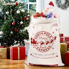 christmas gift bags ourwarm christmas gift holders 50 70cm canvas gift bags for 2018