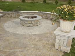 warm up this fall and winter with a custom concrete fire pit