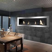 buffet table with fireplace 67 ignis accalia wall mounted recessed ventless ethanol fireplace