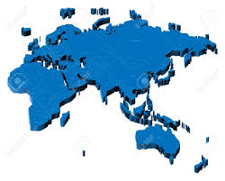 3d africa map vector map of europe asia africa australia with national borders