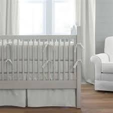 Grey Linen Bedding - neutral baby bedding gender neutral crib sets carousel designs