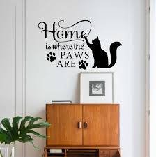 home where paws are cat decal pet wall quote vinyl lettering home where paws are cat decal pet wall quote vinyl lettering