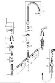 standard kitchen faucet parts diagram kitchen faucet sprayer repair thesouvlakihouse com