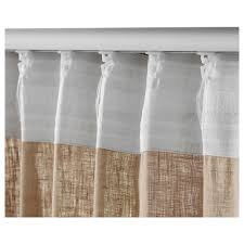 Linen Burlap Curtains Aina Curtains 1 Pair Ikea