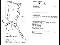 Michigan State Parks Map by Negwegon State Park Map