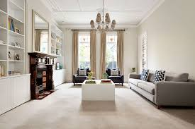 modern family living room classic brick federation house in suburban melbourne updated for