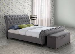 birlea castello grey bed with sorrento storage ottoman grey beds
