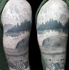 black and grey sea scape forearm tattoos search awesome
