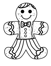 gingerbread man coloring pages download print free
