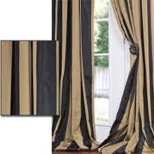 Gold Striped Curtains Overstock Black Gold Stripe Faux Silk Taffeta 120 Inch