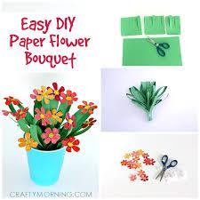 3d Flower Vase 3d Paper Flower Bouquet Craft For Kids Crafty Morning
