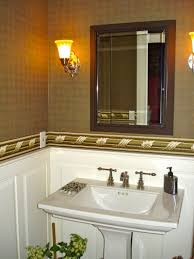 bathrooms design budget navpa decor orange half ideas small