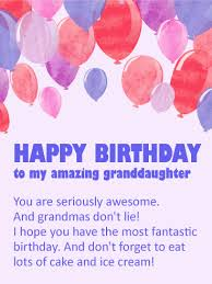 to my cherished granddaughter happy birthday wishes card tender