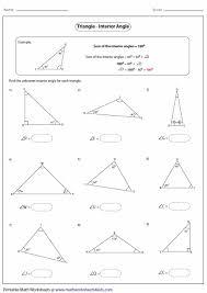 triangle interior angles worksheet brokeasshome com