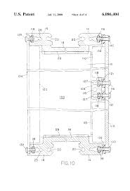 patent us6086404 circuit board card cage with one piece integral