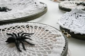 diy halloween doily spider webs salty canary
