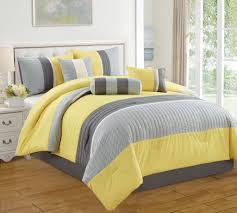 Grey And Yellow Comforters White Yellow And Gray Bedding Ktactical Decoration