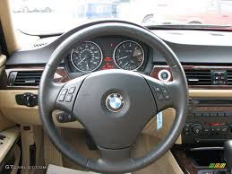 bmw 325i steering wheel 2006 bmw 3 series 325i sedan beige steering wheel photo 61027480