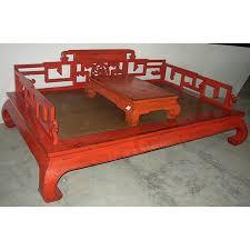 canap asiatique canapé lit chinois 1 personne avec table basse mobilierdasie com