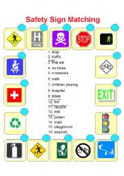 safety signs and symbols worksheets safety community helpers on