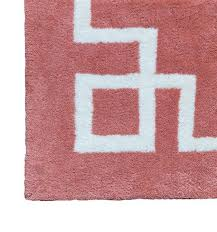 Pink And White Rug Navy And White Deco Border Rug