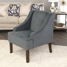 Arm Accent Chair Homepop Grey Swoop Arm Velvet Accent Chair K6499 B229 The