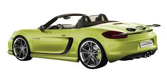 green porsche boxster sp81 r the first modified porsche boxster 981