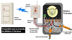 intermatic eh40 240 volt electronic water heater timer youtube