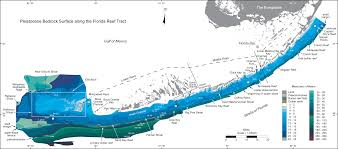 Key West Florida Map Overview Map U2014depth To Pleistocene Bedrock Surface Systematic