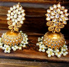 types of earrings for women different types of jhumka earrings indian jewelry and diamond