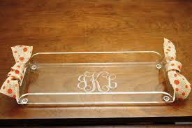 monogrammed tray monogrammed acrylic tray monogrammed acrylic tray personalized