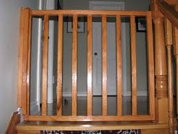 Baby Gate Banister White Oak Banister Baby Gate Baby Gate Self Closing And