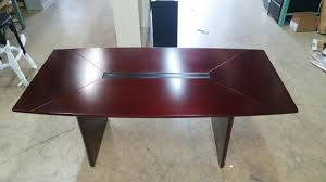 D Shaped Conference Table Mayline Outlet Corsica Conference Table Boat Shaped 29 1 2