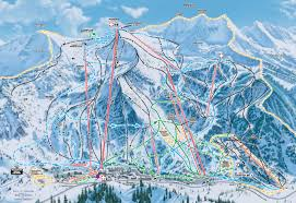 Colorado Ski Areas Map by Red Mountain Trail Map In Bc Bc Pinterest Trail Maps And