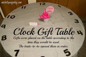 around the clock bridal shower blogs time themed bridal shower