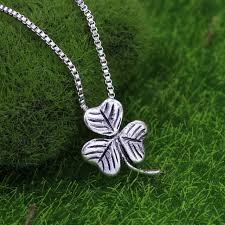 s day charm necklace shamrock charm necklace alloy clover necklace clover pendant