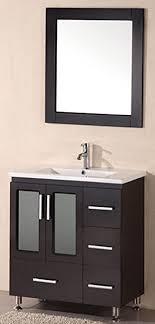 design element bathroom vanities design element stanton single drop in sink vanity set with