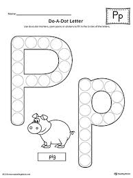 say and trace letter p beginning sound words worksheet