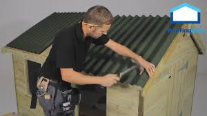 Corrugated Asphalt Roofing Panels by How To Install Onduline Roofing Sheets On Shed Roofs Youtube