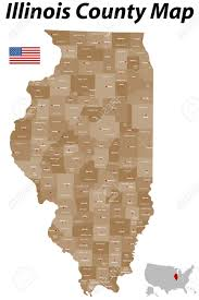 County Map Illinois by A Large Detailed Map Of The State Of Illinois With All Counties
