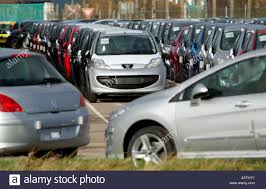 peugeot france french peugeot cars await export from calais northern france