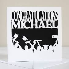 personalised congratulations card by whole in the middle