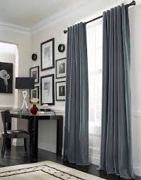 living room decoration using black single curtain rod including