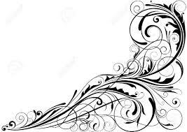 swirl black corner pencil and in color swirl black