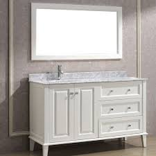 Vanities Without Tops Bathroom Vanities Double Vanity In White - Bella 48 inch bathroom vanity white