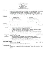 sample resume for bookkeeper accountant accounting resume sample