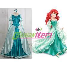 Ariel Mermaid Halloween Costume Adults Customized Movie Mermaid Princess Ariel Dress Cosplay
